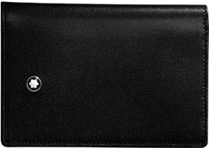 Montblanc Meisterstück Business Card Holder with Gusset: US$190.