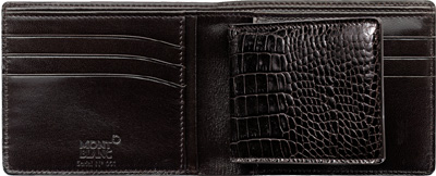 Montblanc Meisterstück Selection Wallet 6CC with Removable Card Holder Pocket: US$450.