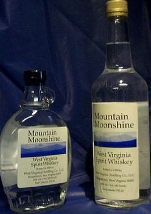 Mountain Moonshine whiskey.
