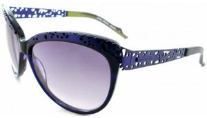Thierry Mugler model 10206 Purple Chartreuse Mat Women's Sunglasses: US$166.
