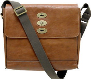 Mulberry Brynmore Oak Natural Leather Messenger Bag: US$1,200.