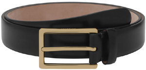 Mulberry Men's Long Buckle Belt Black Smooth Classic With Soft Gold: £195.