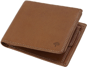 Mulberry Men's 8 Card Coin Oak Natural Leather Wallet: US$380.