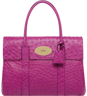 Mulberry Baywater Hot Fuchsia Ostrich Handbag: US$7,500.