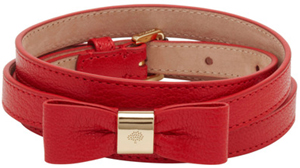 Mulberry Women's Bow Belt Bright Red Shiny Goat: £225.