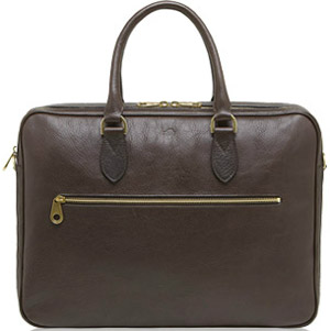 Mulberry Heathcliffe Chocolate Natural Leather Women's Briefcase: €1,150.