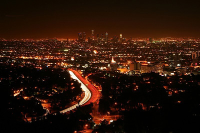 Mulholland Drive, Los Angeles, California, U.S.A.