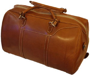 Mulholland All Leather Medium Hippo Duffel Weekend Bag: US$795.