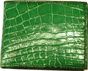 Mulholland American Alligator Billfold with Flip Window: US$770.
