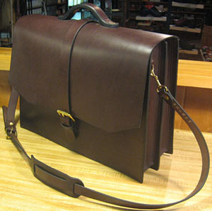 Narragansett briefcase of English bridle leather.