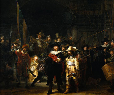 Night Watch (1642) by Rembrandt van Rijn.