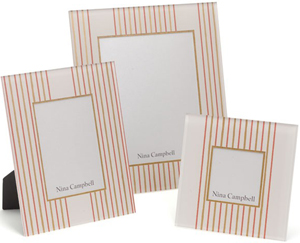 Nina Campbell Pink Abbotsford Photo Frames.