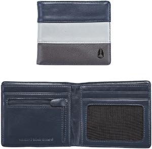 Nixon Men's Bold Stripe Bi-Fold Wallet.