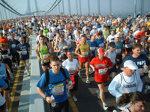 World's largest marathon: New York City Marathon.