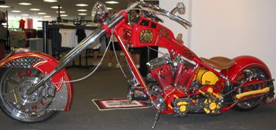 Orange County Choppers' Fire Bike.