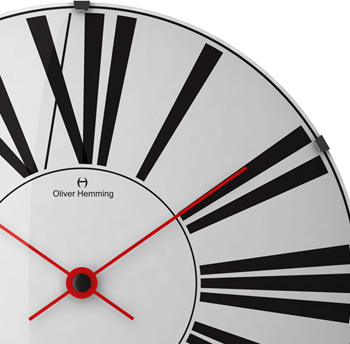 Oliver Hemming 500mm Wall Clock: US$184.45.