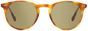 Oliver Peoples model Sir O'Malley women's sunglasses Vintage LBR with Green Photochromic Glass.