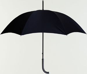 Oliver Ruuger Nile Crocodile Handle Umbrella in grey and navy: £1,575.