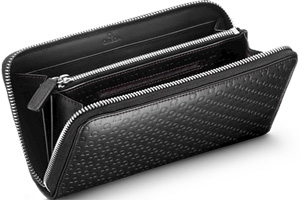Omega Women's Zipped Wallet, 'Symbol' black.