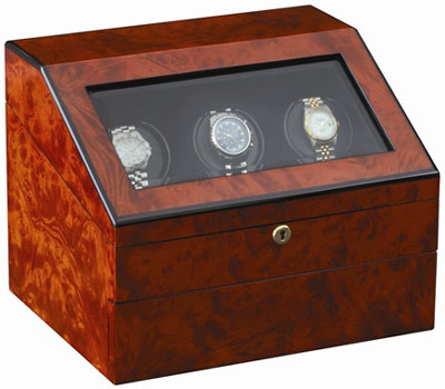 Orbita Siena - Three Executive Burl - PROGRAMMABLE watch winder: US$2,195.