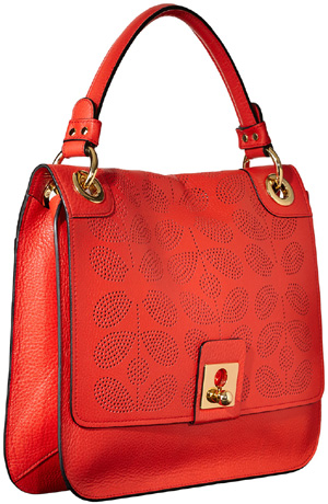Orla Kiely Sixties Stem Leather Ivy Bag: US$498.