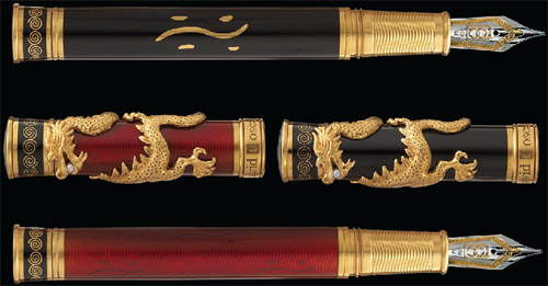 David Oscarson Dragon fountain pens.