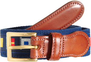 Ovadia & Sons Men's Sailing Print Belt.