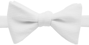 Ovadia & Sons White Piqué Cotton Formal Bow Tie: US$98.