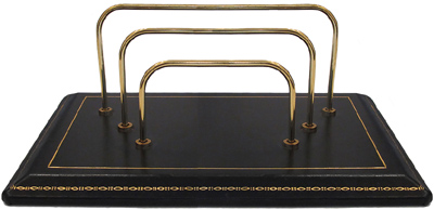 Ovadia & Sons Vintage Brass and Leather Mail Sorter: US$145.