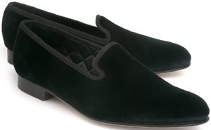 Ovadia & Sons Black Velvet Luxury Slippers: US$275.