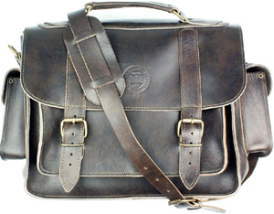 Oxford Art Brown Leather Satchel: £150.