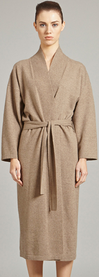 Oyuna Legere Cashmere Dressing Gown in Taupe: £799.