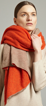 Oyuna Dia Women's Cashmere Shawl in Sunset/Taupe: £349.