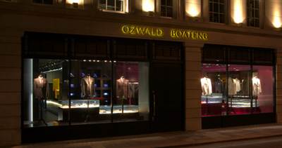 Ozwald Boateng's Flagship Store, 30 Savile Row.