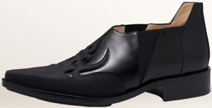 Paco Rabanne Boxy Leather Santiag men's shoe.