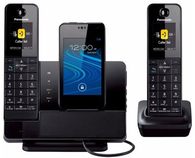 Panasonic KX-PRD262B 1.9 GHz DECT 6.0 Link2Cell Dock Style Bluetooth Cellular Convergence Solution with 2 Handsets for Smartphones: US$270.39.