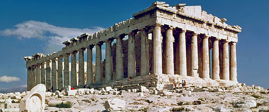 Parthenon (Athens, Greece) by Callicrates (447 BC - 432 BC).