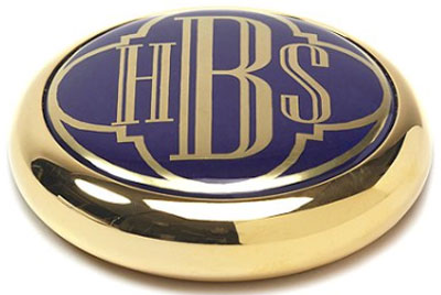 Brooks Brothers Handpainted Enamel Brass Paperweight.