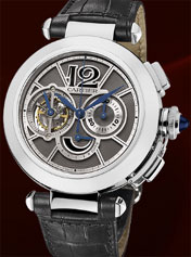 Pasha Tourbillon Chronograph Watch, Pasha de Cartier Collection.