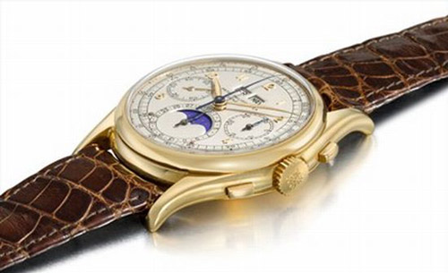 World's most expensive wristwatch: Patek Philippe, ref. 1527.