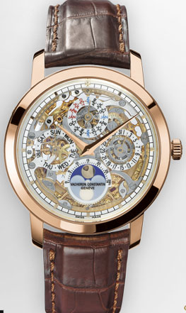 Patrimony Traditionnelle openworked perpetual calendar. Reference: 43172/000R-9241.