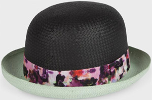 Paul Smith Hats - Black Falling Iris Bowler Hat: €63.