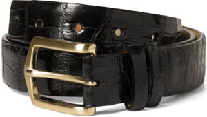 Paul Stewart Glazed Alligator Belt: US$497.