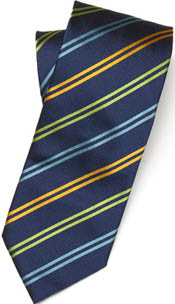 Paul Stewart Woven Silk Double-Stripe Tie: US$128.50.
