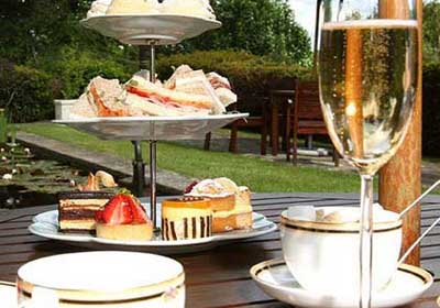 Afternoon Tea at Pennyhill Park Hotel, London Road, Bagshot, Surrey GU19 5EU, England, U.K.