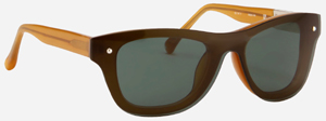 Philip Lim Toffee Acetate with Green Lens men's sunglasses: US$280.