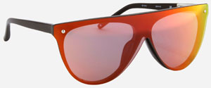 Philip Lim Black with Sunset Mirror Lens women's sunglasses: US$280.