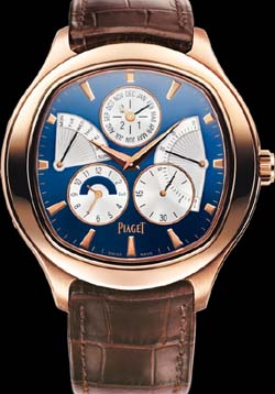 Piaget Emperador cushion-shaped Perpetual calendar, automatic, rose gold watch.