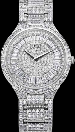 Piaget Gouverneur Dancer Ultra-thin, mechanical, white gold, diamonds watch.
