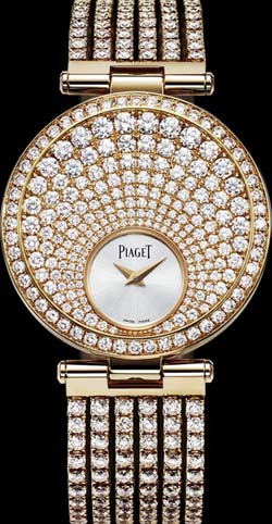 Piaget Limelight Twice Rose gold, diamonds watch.